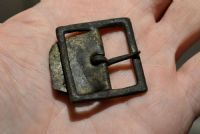 A large Tudor period Bronze buckle with buckle plate from the River Thames, London. SOLD